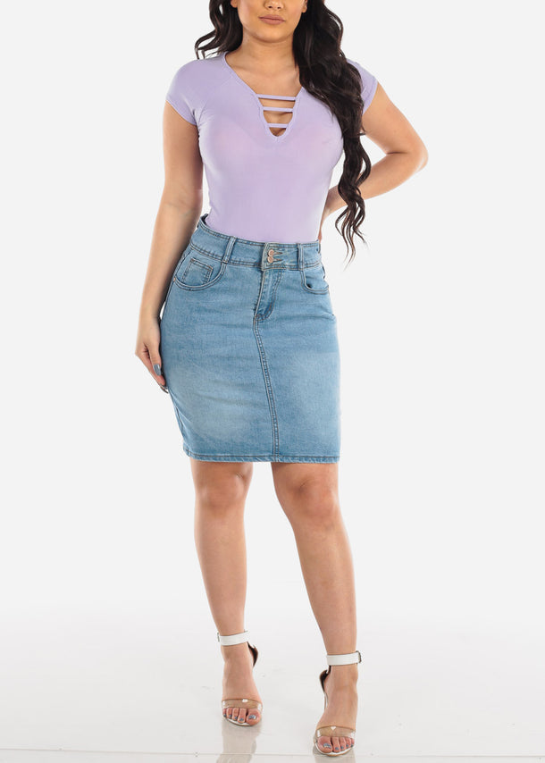 Strappy Light Purple Top