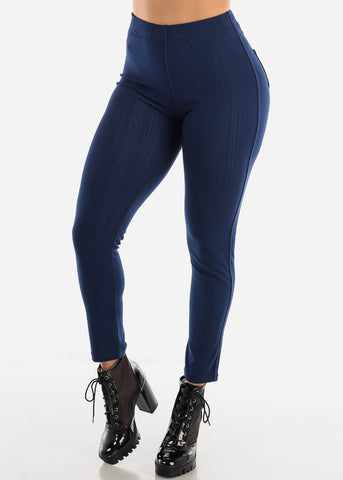 Butt Lifting Navy Skinny Jeggings