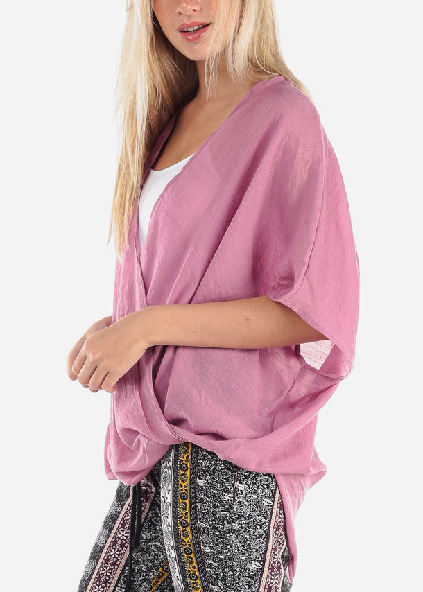 Casual Lightweight Mauve Top