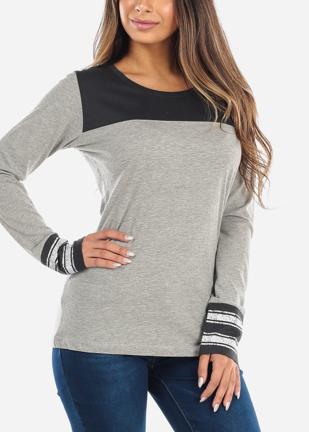Two Tone Charcoal Top