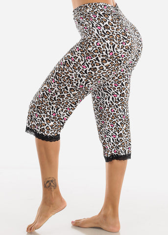 Stretchy Multi Color Printed Pajama Pants