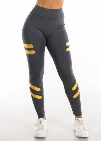 Image of Activewear Grey High Waisted Leggings