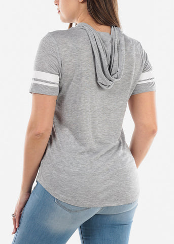"Image of Grey Graphic Top ""My Own Boss"""