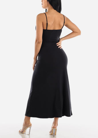 Image of Spaghetti Strap Black Maxi Dress