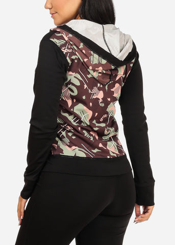 Camouflage Workout Set- Leggings Top Jacket (3 PCE SET)