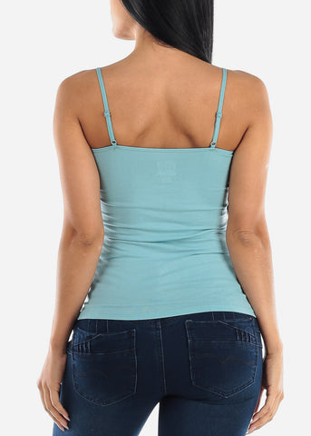 "Adjustable Spaghetti Strap Tank Top ""Aqua Blue"""