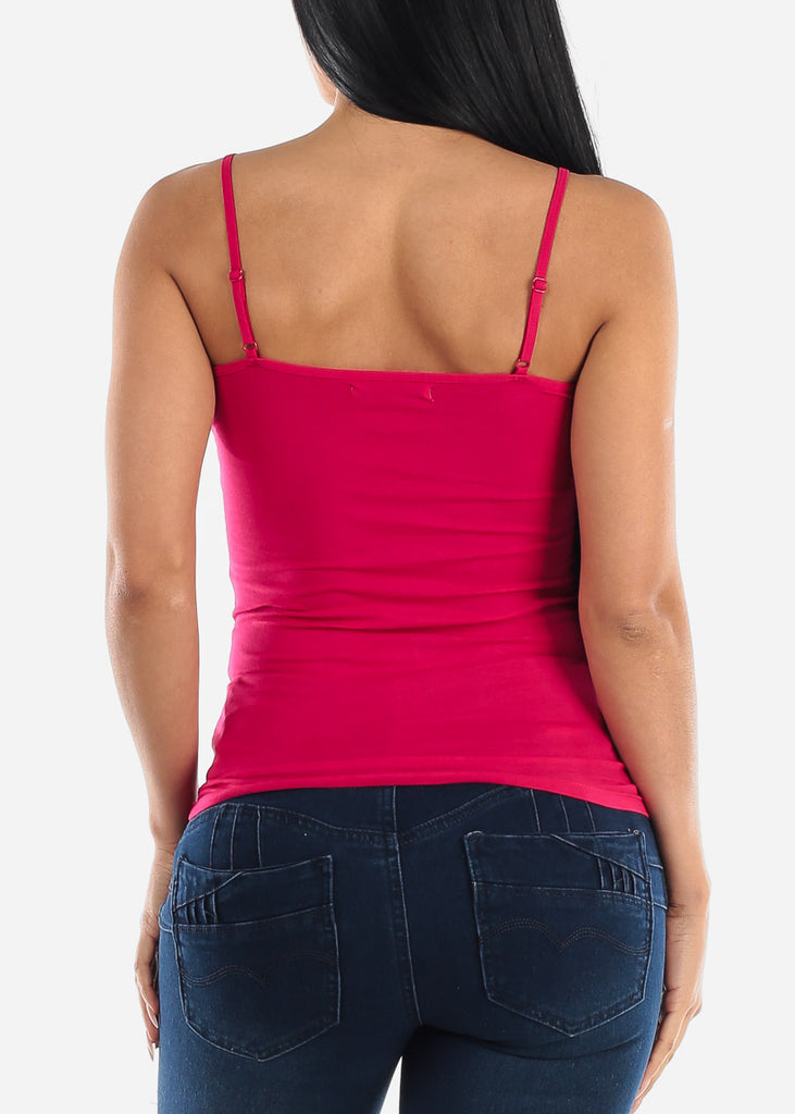 "Adjustable Spaghetti Strap Tank Top ""Hot Pink"""