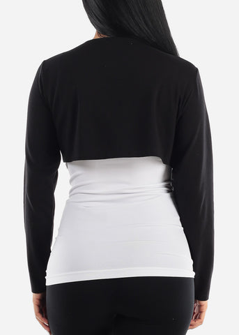Image of PLUS SIZE Black Bolero Cardigan