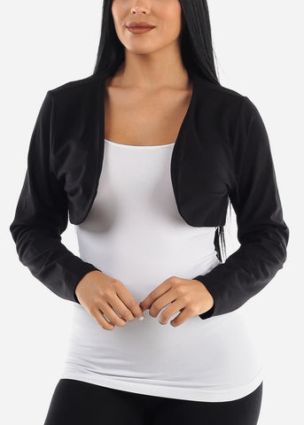 PLUS SIZE Black Bolero Cardigan