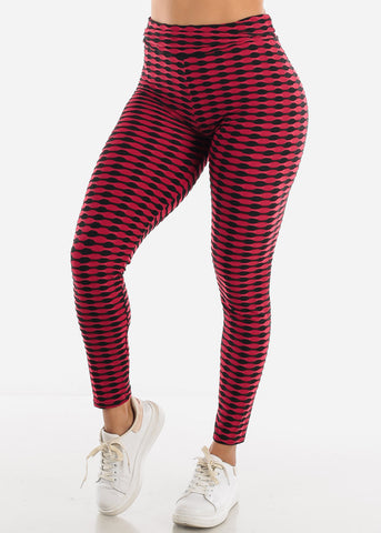 Chic Burgundy Push Up Leggings