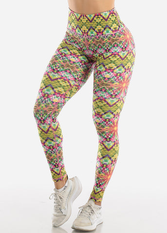 Activewear Multicolor Printed Leggings