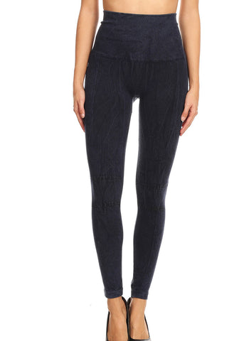 Faded High Rise Navy Seamless Leggings