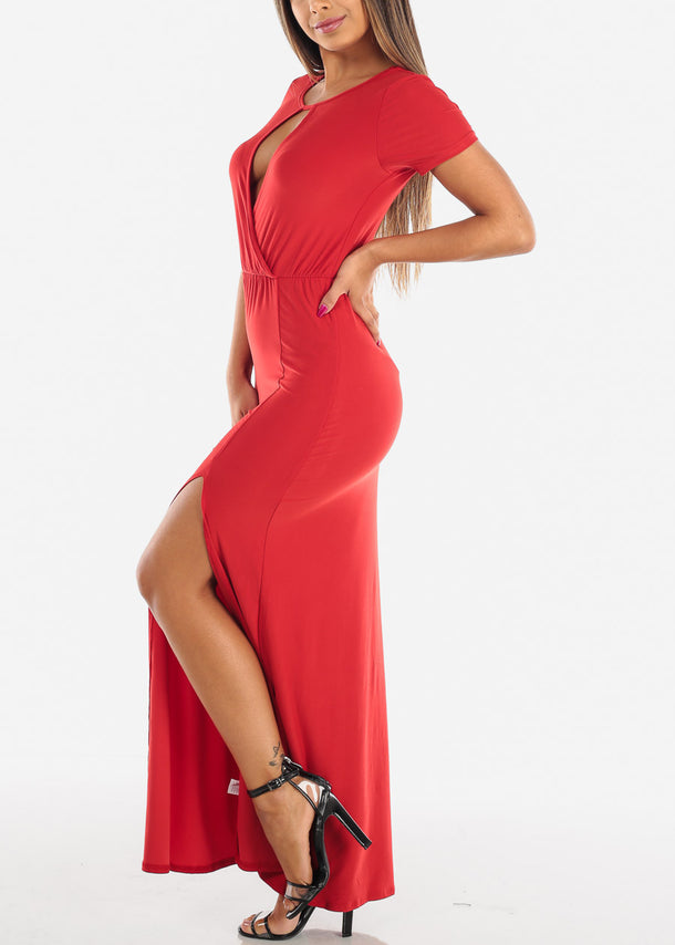 Stylish Red Maxi Dress