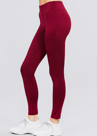 Burgundy Activewear Leggings