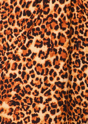 Image of Animal Print High Waisted Jogger Pants