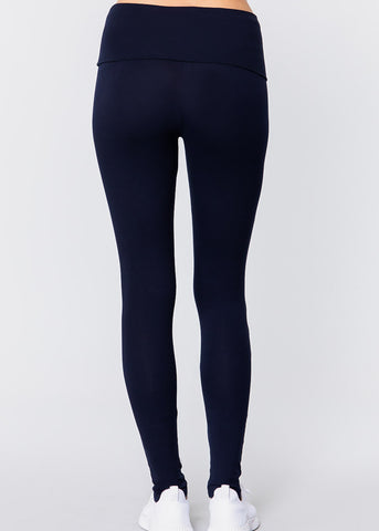 Image of High Waisted Navy Leggings