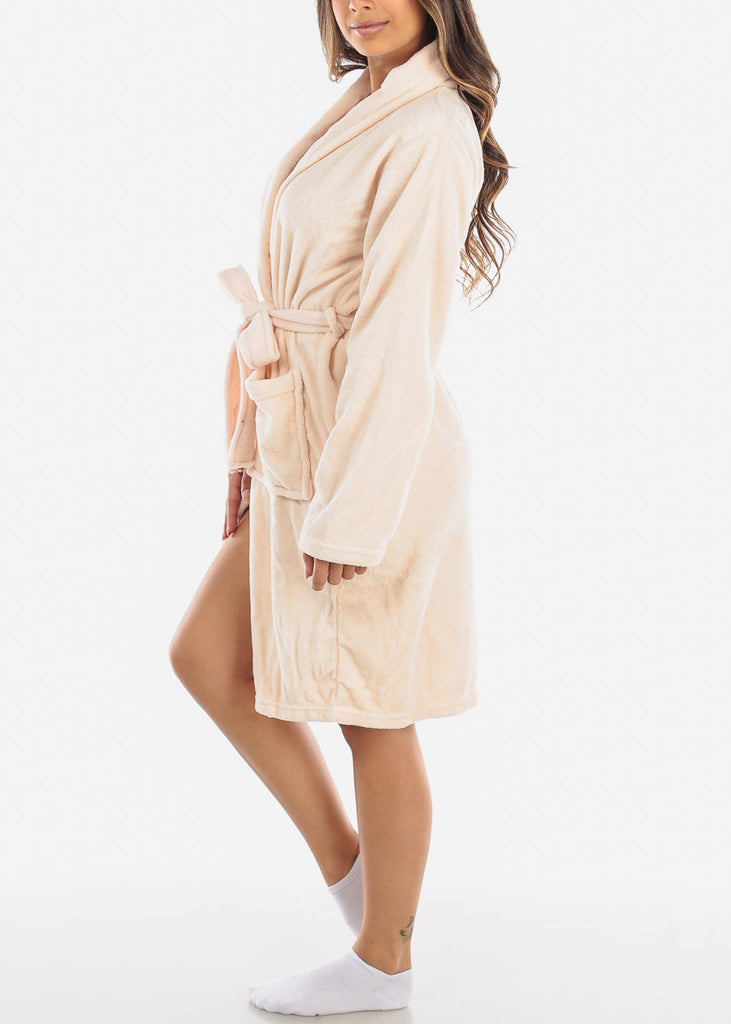 Light peach Fleece Robe