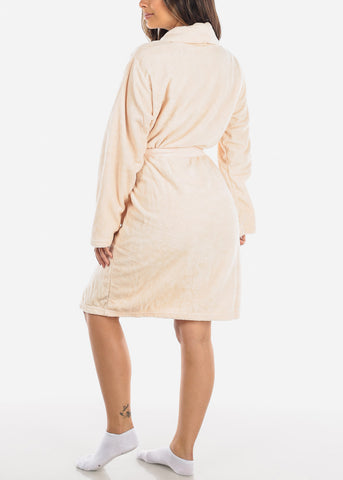 Image of Light peach Fleece Robe