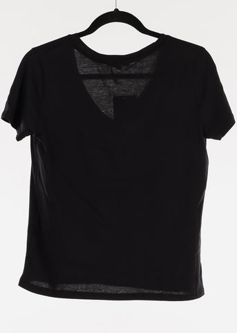 "Black Graphic Top ""Amore"""