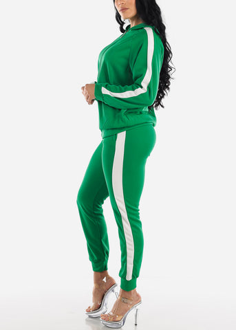 Image of Activewear Green Jacket & Pants (2 PCE SET)