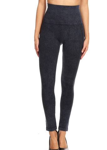 High Rise Faded Navy Seamless Leggings