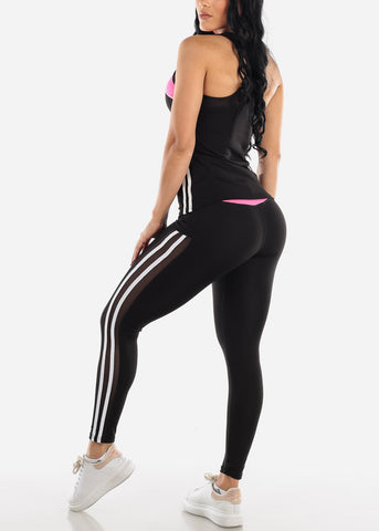 Activewear Pink Top & Pants (2 PCE SET)