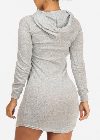 Image of Cute Love Grey Dress W Hood
