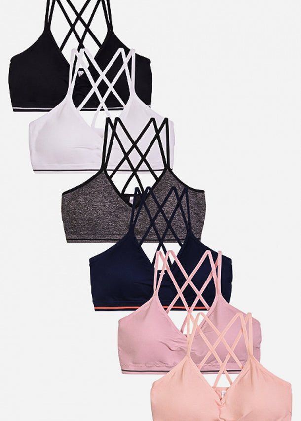 Strappy Back Sports Bra (6 PACK)