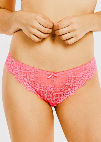 Image of Floral Lace Thong Panties (12 PACK)