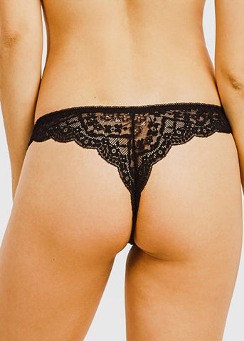 Floral Lace Thong Panties (12 PACK)