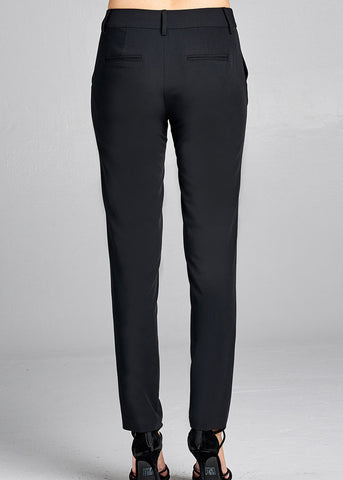 Image of Black Straight Leg Dress Pants