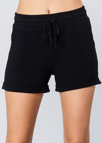 Image of Black Sweat Shorts