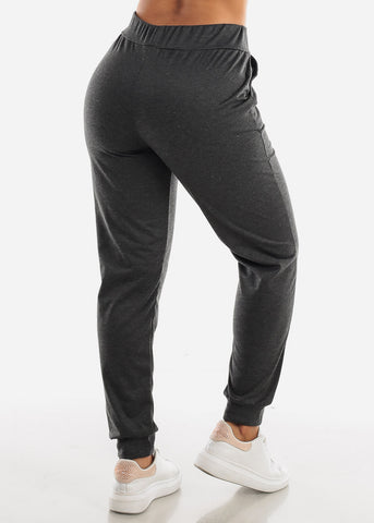 High Waisted Charcoal Jogger Pants