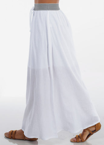 Image of Stylish White Maxi Skirt