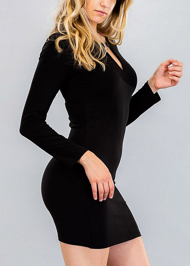 Casual Bodycon Keyhole Neckline Dress
