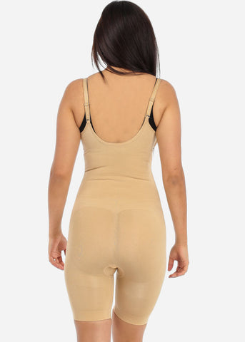 Nude Full Body Shapewear Thigh Control Bodysuit