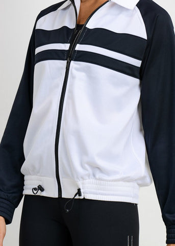 Image of Black And White Zip Up Jacket