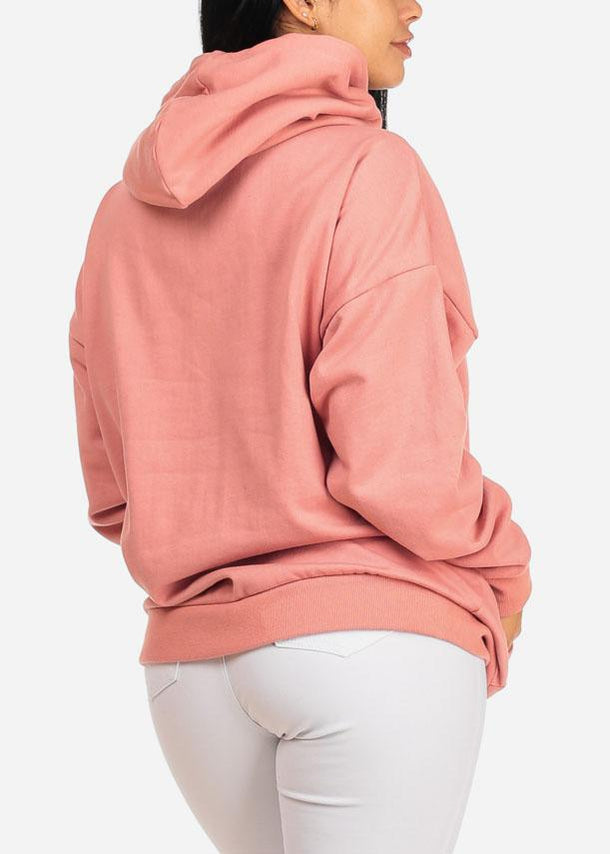 Oversized Pink Hoodie