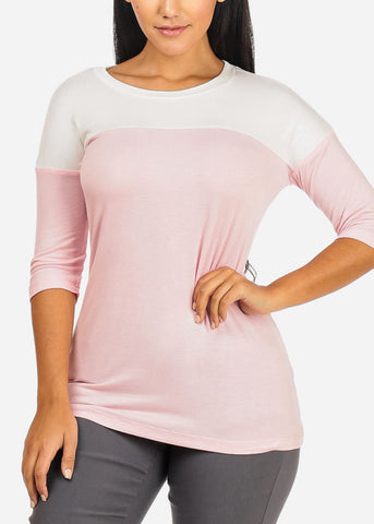 2 Tone Light Pink Top