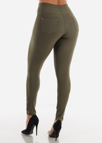 Image of Olive High Waisted Skinny Pants