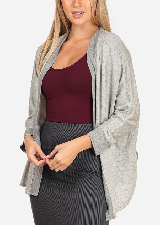 Cheap Light Grey Cardigan