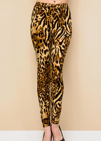 Image of Animal Print Highwaisted Leggings