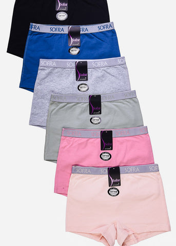 Boy Shorts Panties ( 6 PACK )