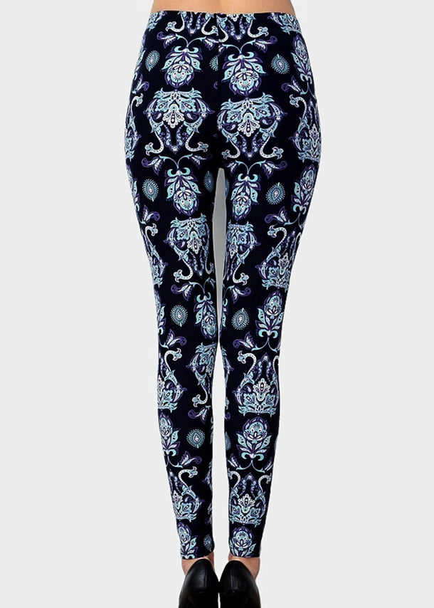 High Waisted Seamless Printed Leggings
