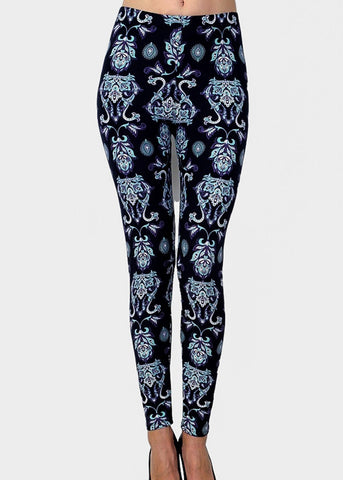 Image of High Waisted Seamless Printed Leggings
