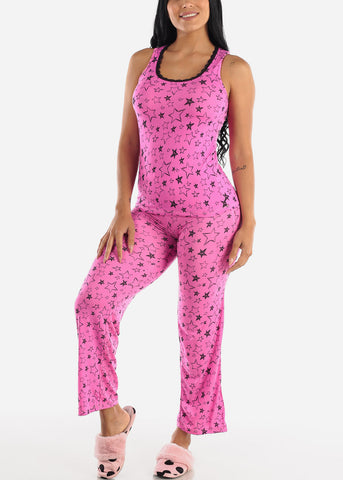 "Image of Pink Star Cami & Pants ""2 PCE PJ SET"""