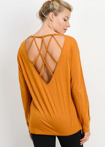 Back Web Design Gold Tunic Top