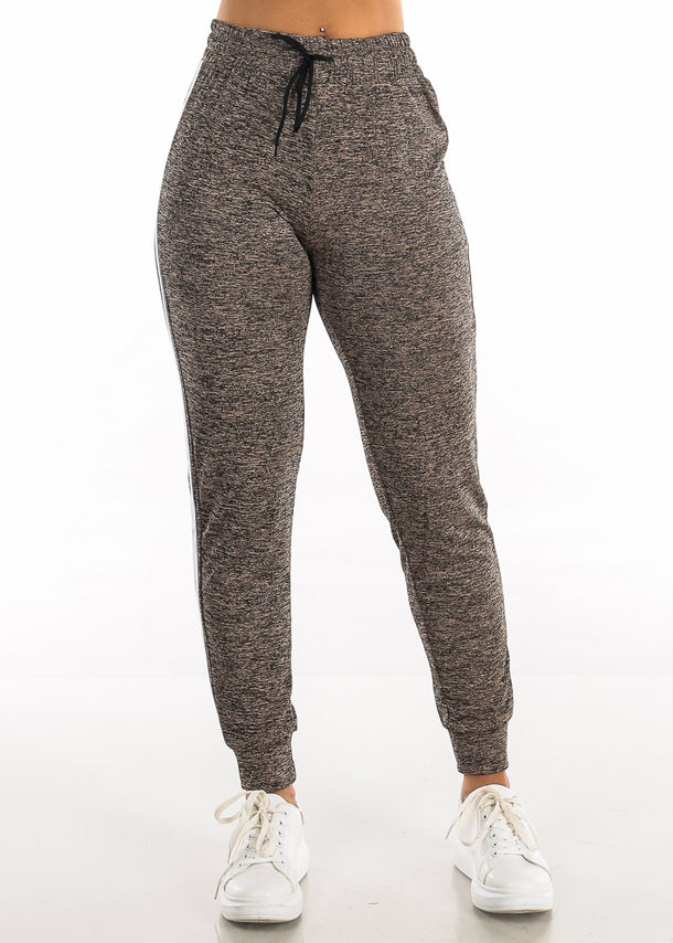 Drawstring Heather Mocha Jogger Pants