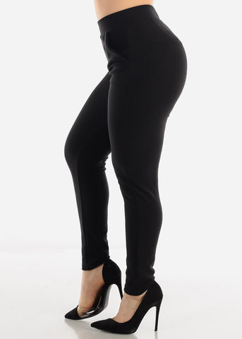 High Waist Black Dress Pants