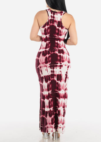 Image of Plum Tie Dye Maxi Dress